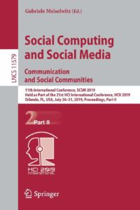 Social Computing Media Communication Communities